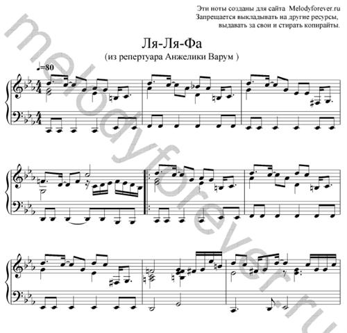эльвира т все решено ноты для фортепиано
