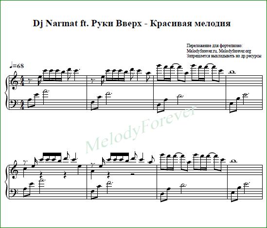 ea9b7d08e92 Dj Narmat ft. Руки Вверх - Красивая мелодия — купить на Robo.market