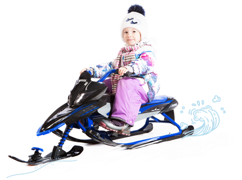 Снегокат Синий Snow Moto YAMAHA Apex SNOW BIKE Titanium